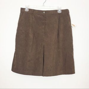 NWT Talbots Vintage High Waisted Brown Shorts 14